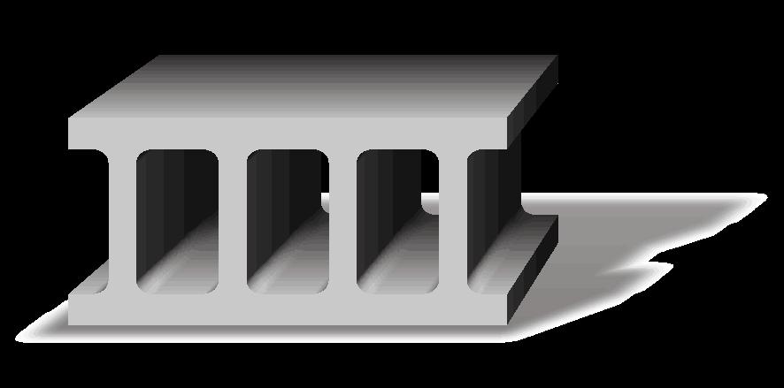空洞のあるコンクリートブロックのイラスト