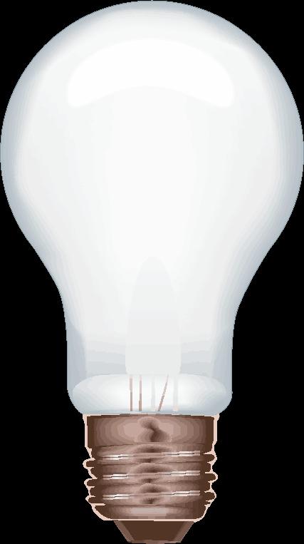 白熱電球のリアルなイラスト