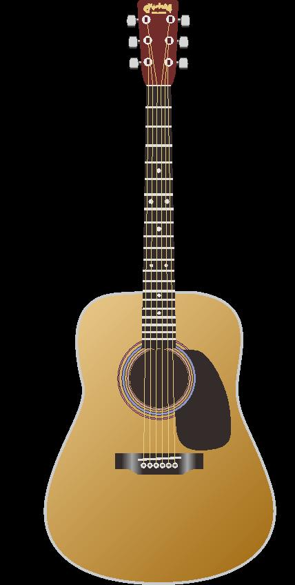 リアルな描写のギターのイラスト