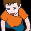 ハイハイトレーニングをしている男の子のイラスト