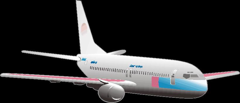 ジェット旅客機のイラスト