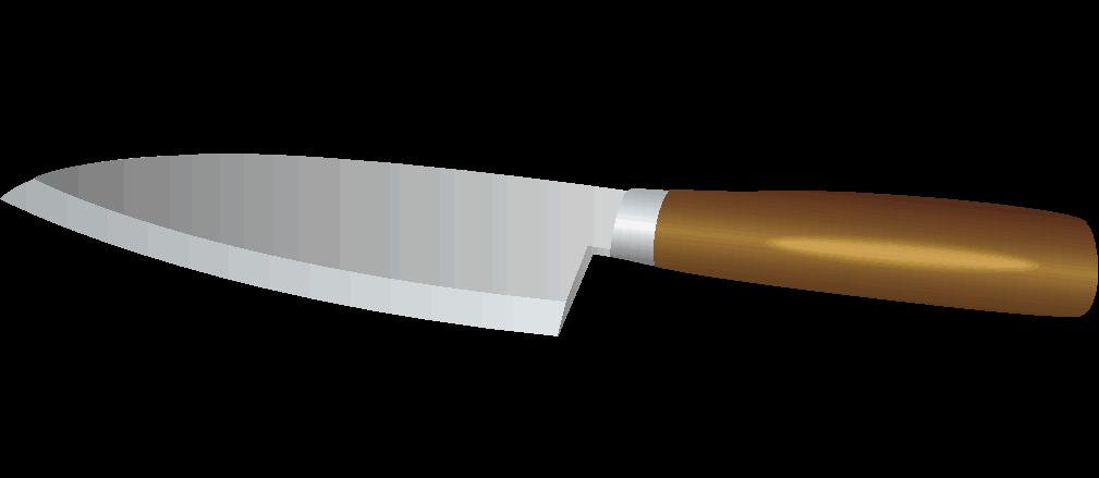 使いやすそうな小型の出刃包丁のイラスト