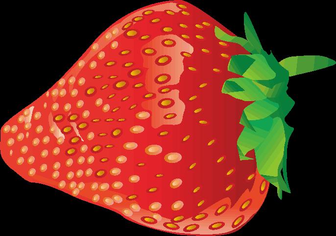 赤いイチゴのイラストの画像