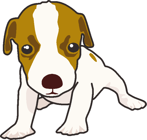 ジャックラッセルテリアの子犬のイラスト