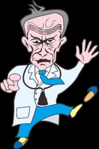 びっくりしている老医師