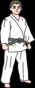 若い柔道選手のイラスト
