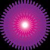 花粉症の原因である花粉のイラスト