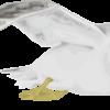 翼を広げて飛んでいるカモメのイラスト