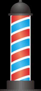 理髪店の回転看板