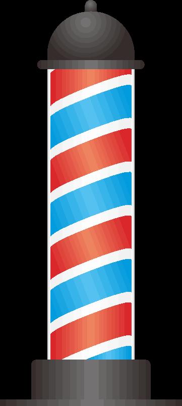 理髪店の看板のイラスト