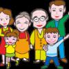 家族イラスト素材