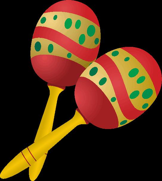 マンボやサルサで使われる楽器であるマラカスのイラスト