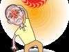 炎天下の熱中症のイラスト
