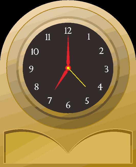 生活の時を刻む置き時計のイラスト