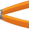 オレンジ色の握りカバーがついたペンチのイラスト