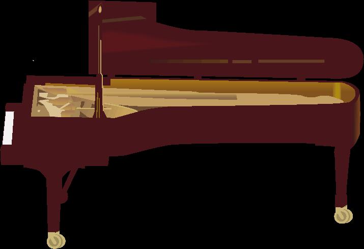 大きなグランドピアノのイラスト
