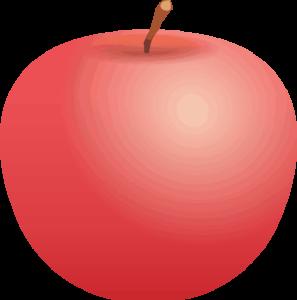 簡略なリンゴのイラスト画像