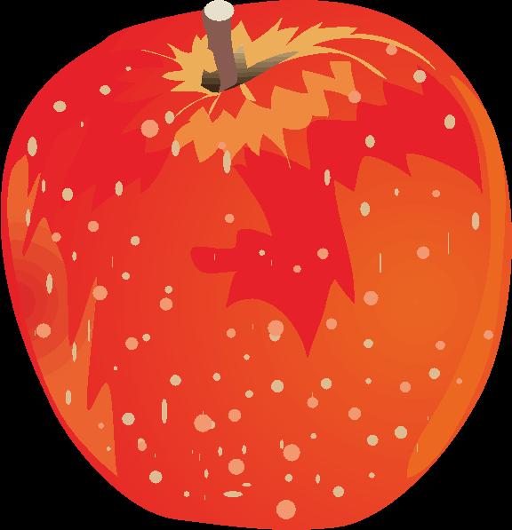 赤いリンゴのイラスト画像