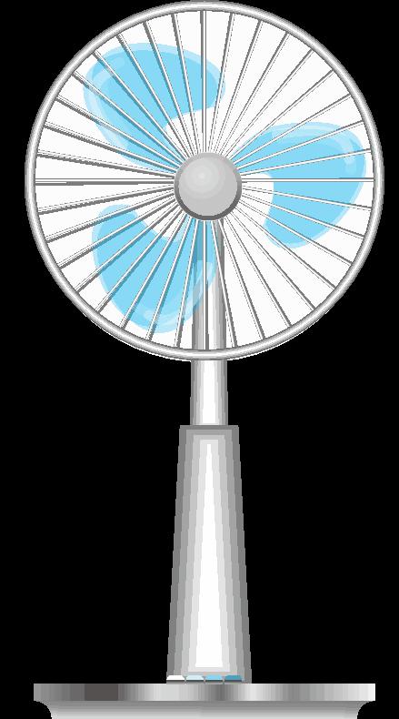 青い扇風機