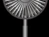 おしゃれな黒い扇風機のイラスト