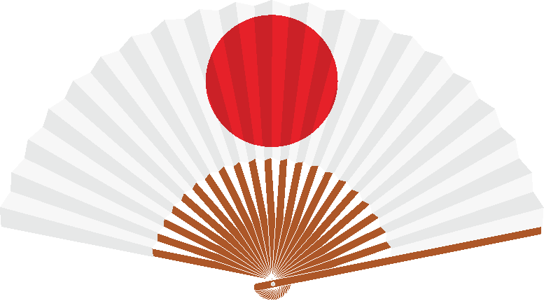 日の丸扇子のイラスト