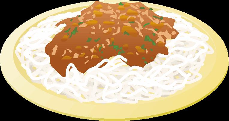 ミートソーススパゲッティのイラスト