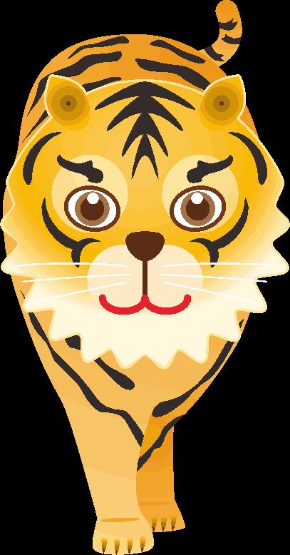 目の大きな虎のイラスト