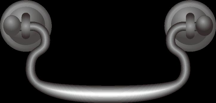 和箪笥の黒い取っ手のイラスト
