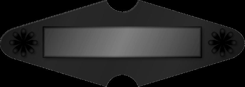 菱形の黒い取っ手のイラスト