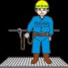 安全帯を装着した作業員