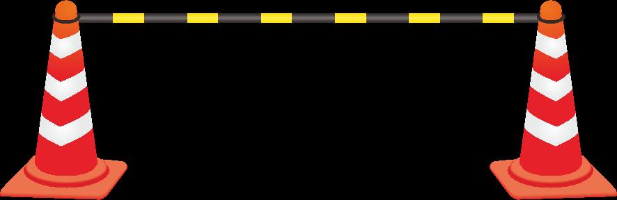 工事に使う簡易バリケードのイラスト画像