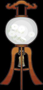 お盆に仏前を飾る盆提灯