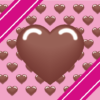 バレンタインデーのハートチョコレートのイラスト