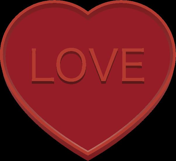 ハートの形のバレンタインチョコレートのイラスト