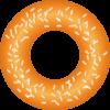 グラニュー糖をまぶしてあるおいしそうなドーナツのイラスト