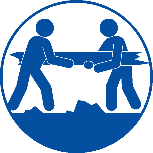 災害の復旧協力のピクトグラム