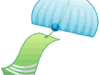 風にゆれて涼を呼ぶ風鈴のイラスト