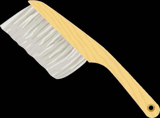 図面清掃のための製図用刷毛のイラスト