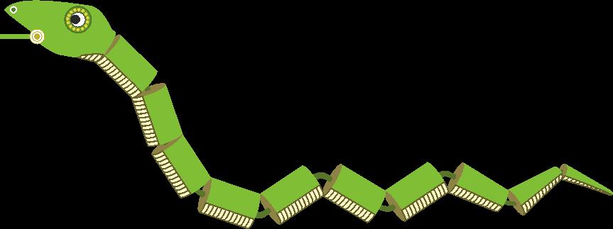 愉快なヘビのおもちゃのイラスト