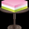 ひな祭りの飾りに使う菱餅のイラスト