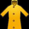 黄色い雨合羽のイラスト