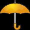 黄色い雨傘のシンプルなイラスト