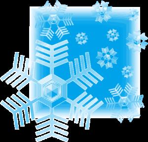 青い夜の雪の結晶