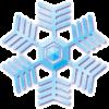 雪の結晶イラスト素材