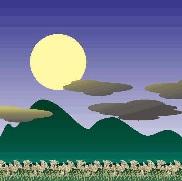 十五夜の満月のイラスト
