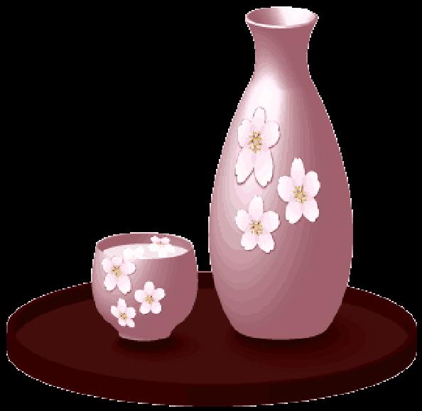 日本酒を入れる銚子とお猪口のイラスト