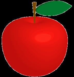 真っ赤なリンゴのイラスト画像