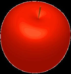 まんまるリンゴのイラスト画像