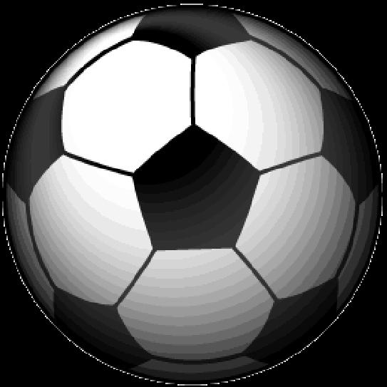 白黒模様のサッカーボールのイラスト