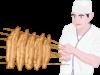 うなぎの蒲焼職人のイラスト